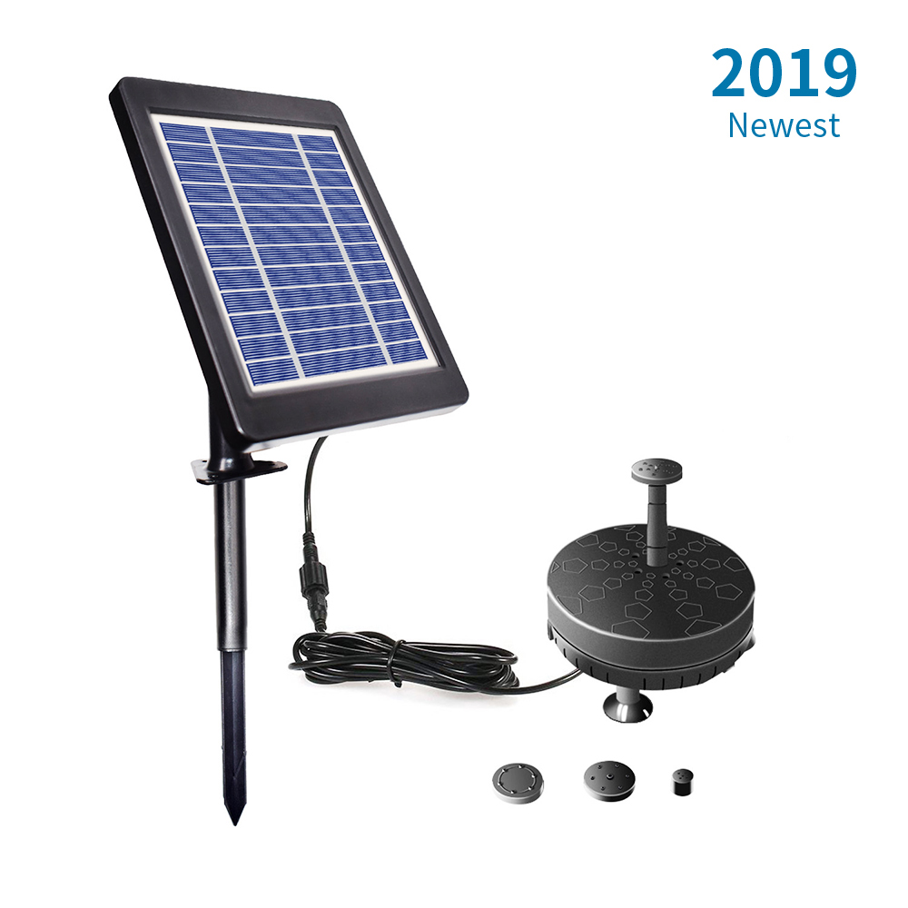 Solar Fountain Water Pump 6V 3.5W LED Solar Powered Brushless Submersible Water Pump for Birdbath Patio Garden Pond PoolSolar Fountain Water Pump 6V 3.5W LED Solar Powered Brushless Submersible Water Pump for Birdbath Patio Garden Pond Pool