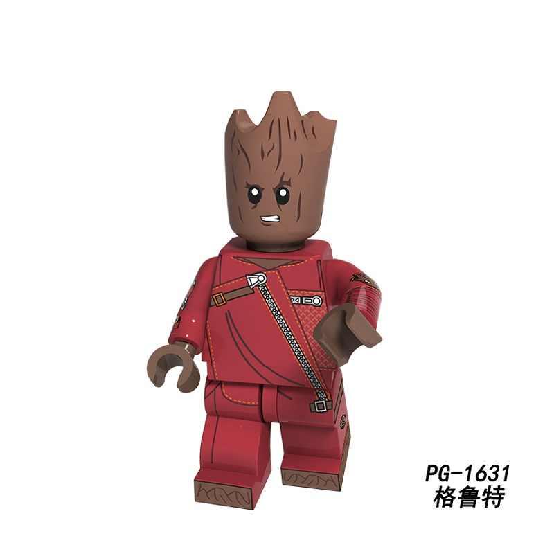 Tek Satış Süper Kahramanlar Deadpool Wolverine Ağaç Adam Roket Rakun Rakamlar Yapı Taşları Tuğla hediye oyuncaklar Çocuk PG8159