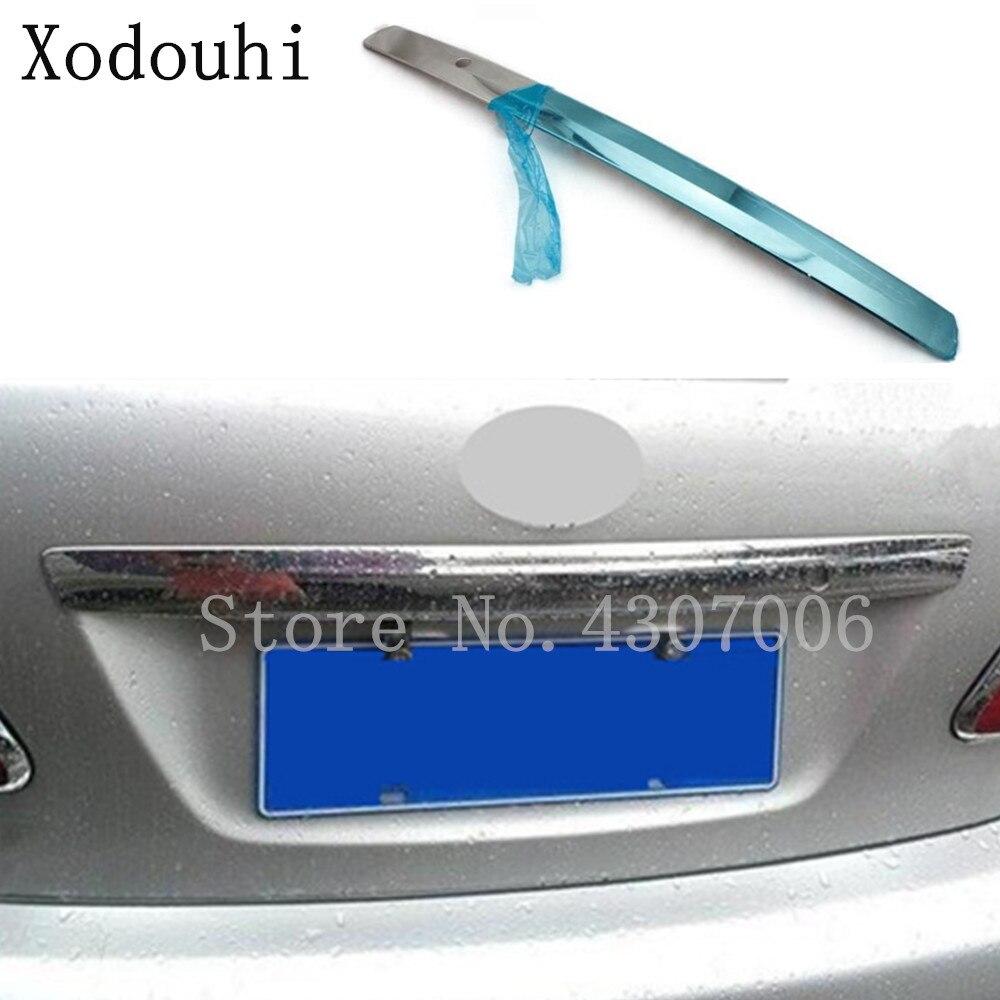 Porte arrière de voiture Licence hayon pare-chocs cadre plaque garniture coffre capote 1 pièces Pour Toyota Corolla Altis 2008 2009 2010 2011 2012 2013