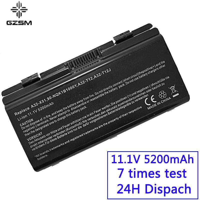 GZSM Laptop Battery T12C For Asus T12Er T12Fg T12Jg T12Ug X51H X51L X51R X51RL X58 X58C X58L X58Le A31-T12 A32-T12 X51 Battery
