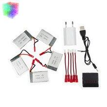JJRC H11D lipo 3 7v 1000mah battery JST batteries 5pcs and charger with plug for JJRC