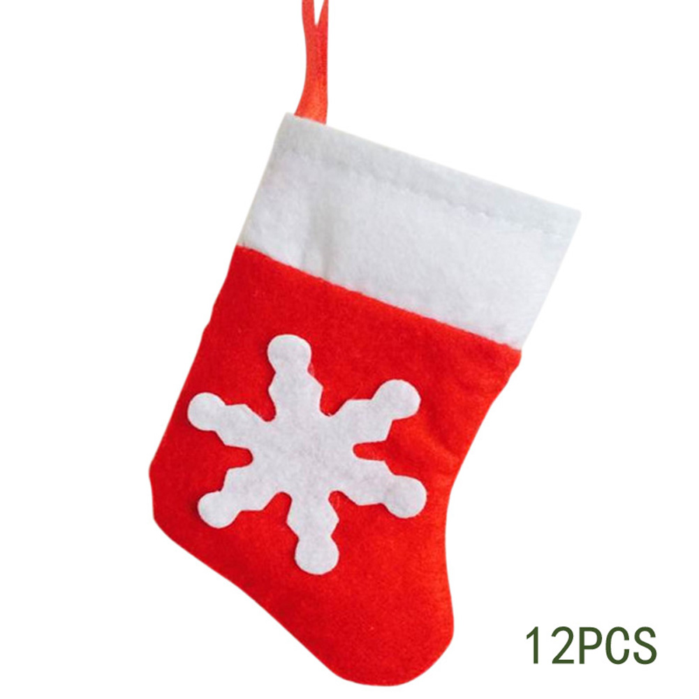 12Pcs/lot Mini Christmas Stockings Knife Fork Holder Dinner Party ...