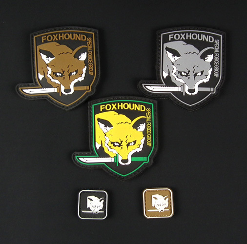 The revelation of foreign trade new spot direct metal gear solid PVC chapter patch armband military patches badges 8*6CM