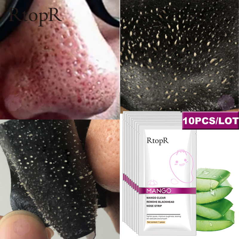 10 Pcs lot Mango Blackhead Remover Nose Mask Acne Treatment Pore Strip Face Lift Firming Peeling T Zone Care Oil control Skin