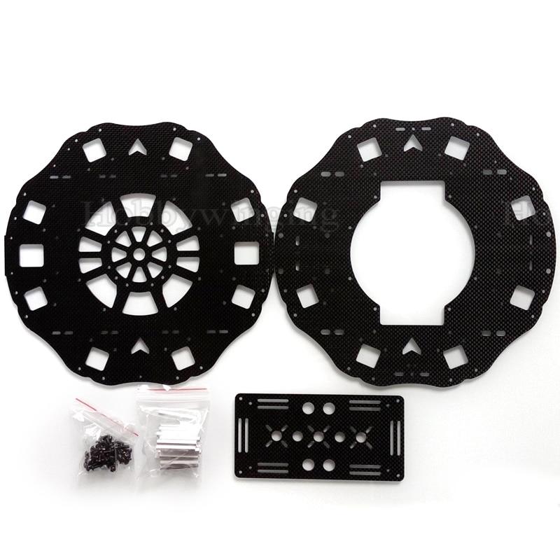 700 1050mm Wheelbase Octacopter Frame Carbon Fiber Center Plate Battery Mounting Plate X8 1050 V2