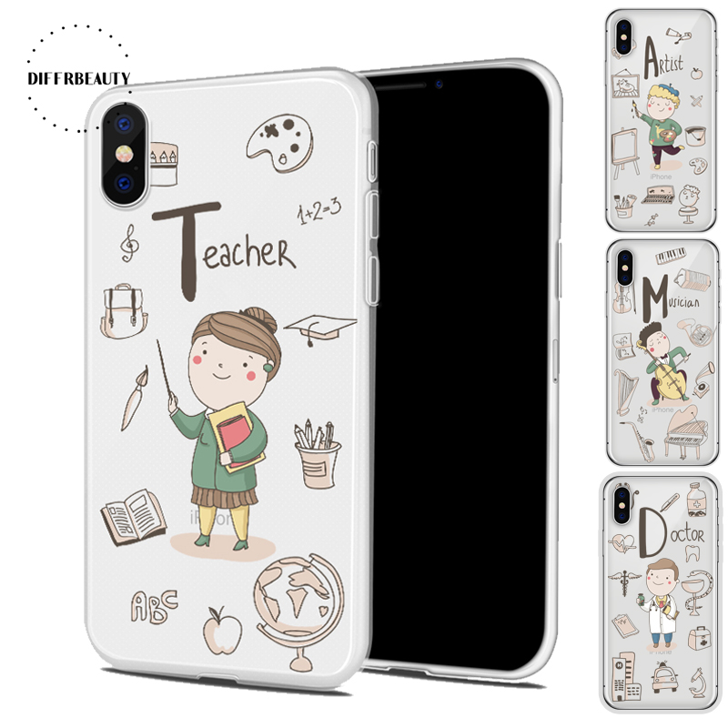 New Lovely Doctor Teacher Occupation Chef Diffrbeauty Transparent Silicone Phone Shell Case For Samsung Galaxy S8 S7 S6 S8 Plus Phone Bags & Cases
