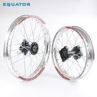 Silver 12mm 15mm Front 1.40x14 inch Rear 1.85x12 inch aluminium Alloy Wheel Rim For 160cc 150CC Dirt Pit bike 12 14 inch wheel