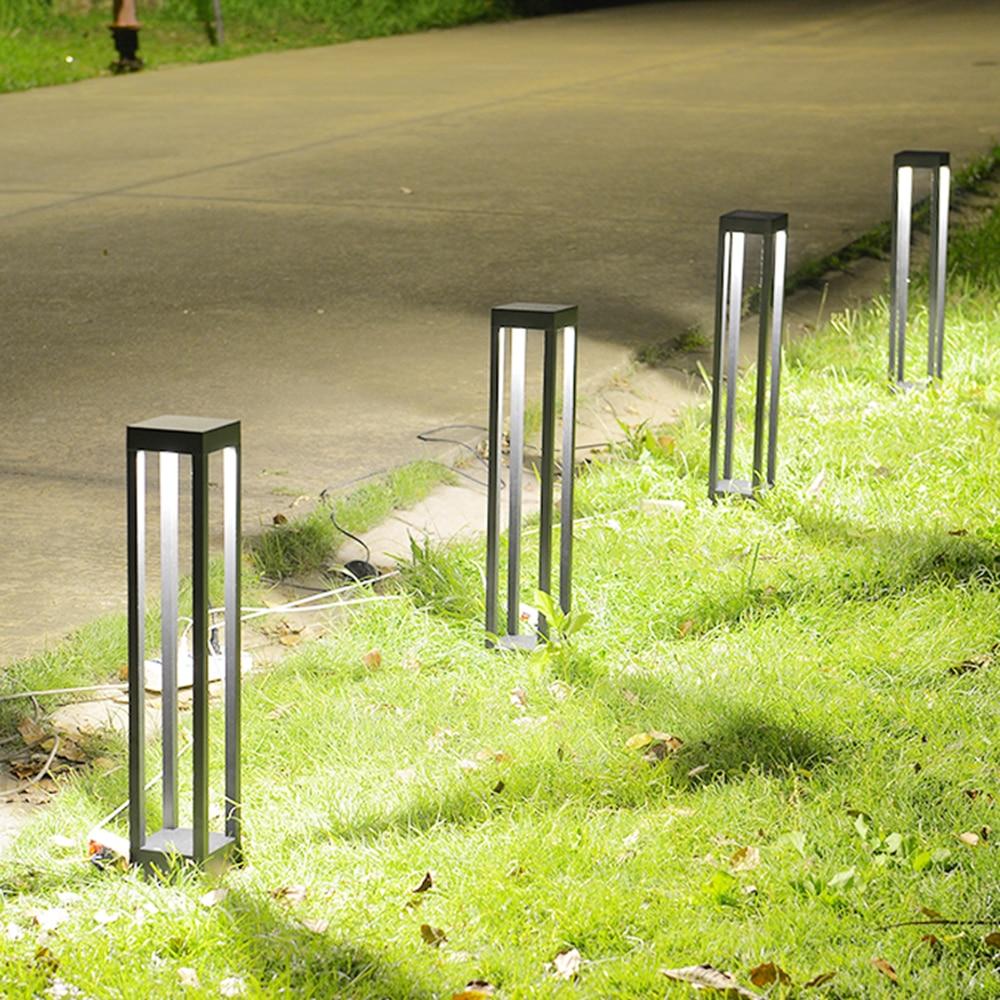 220 v 110 v moderne IP44 LED décoration extérieure imperméable pelouse lumières lampadaires pour jardin chemin cour arrière rue