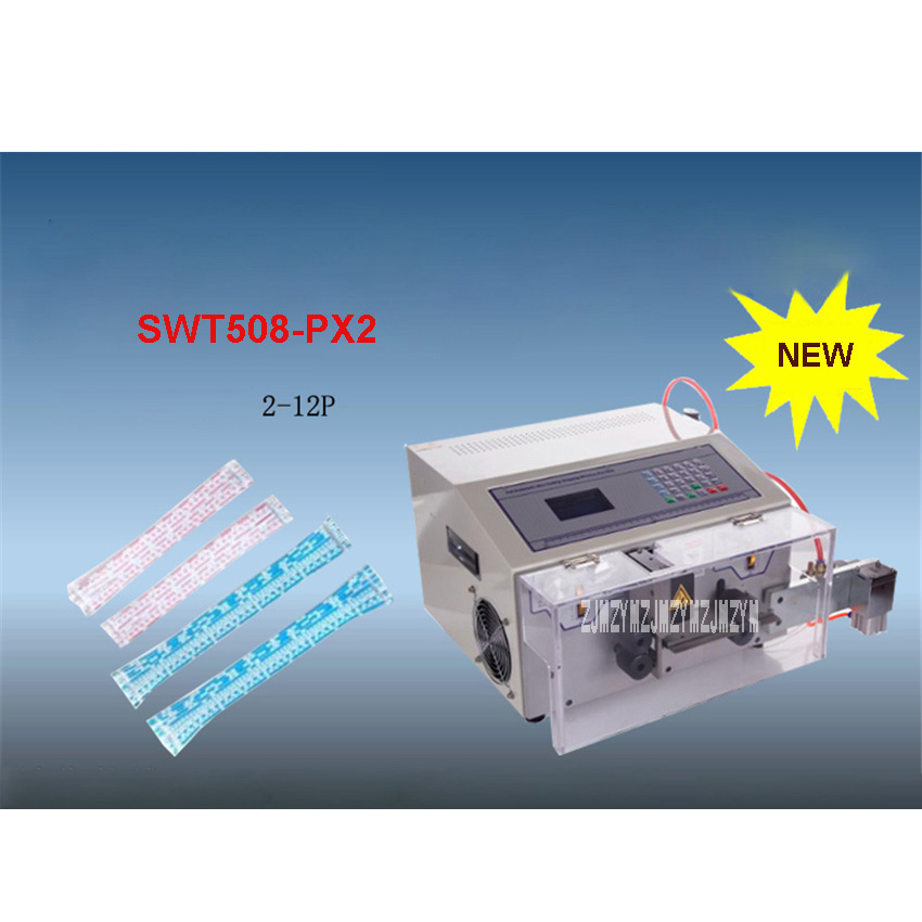 New SWT508-PX2 Automatic Computer Cable Splitter Stripping Machine/ Cutting Machine 2-12P 110V/220V 450W Flat Tube 100x22x2.8mm