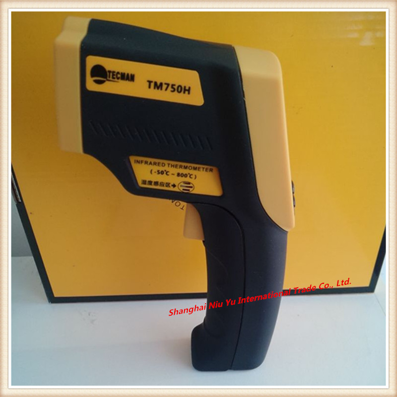 ФОТО Hot TM750H Environment Laser Infrared IR thermometer hygrometer humidity Non-Contact LCD Digital Temperature Meter -50~800C