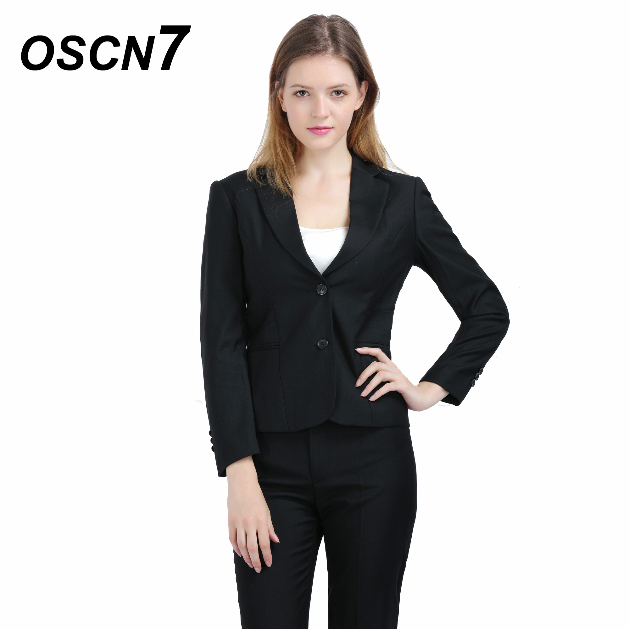 Temperate Oscn7 2pcs Black Women Suit Slim Fit Leisure Women Suits Office Sets Plus Size 2018 Classic Blazer Set 156 A Plastic Case Is Compartmentalized For Safe Storage