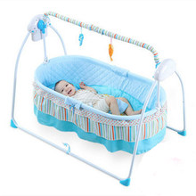 Electric baby cradle bed sleeping basket shakes his newborn automatic concentrator little boy emperor smart(China)