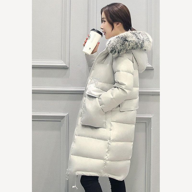 96504cc0af450 Phalinovic TOPSALE 2017 Brand Women Winter Fur Jacket Lady White Duck Down  Long Coat Black Blue Grey Color Parkas Plus Size 6XL -in Down Coats from  Women s ...