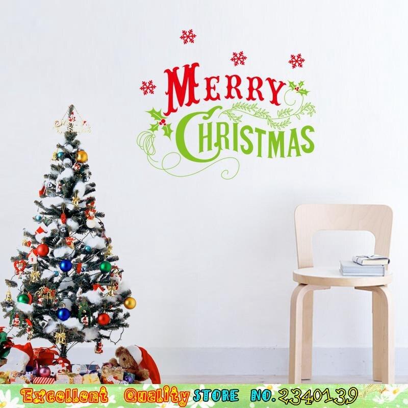 Kreative Kunst Schrift Brief Frohe Weihnachten Wandaufkleber Home ...