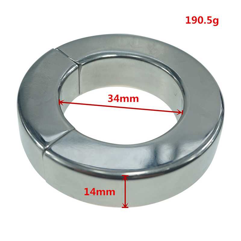 Heavy Duty Magnetic Stainless Steel Ball Scrotum Stretcher Metal Lasting Cock Ring For Men Delay Penis Ring Sex Toy for Men