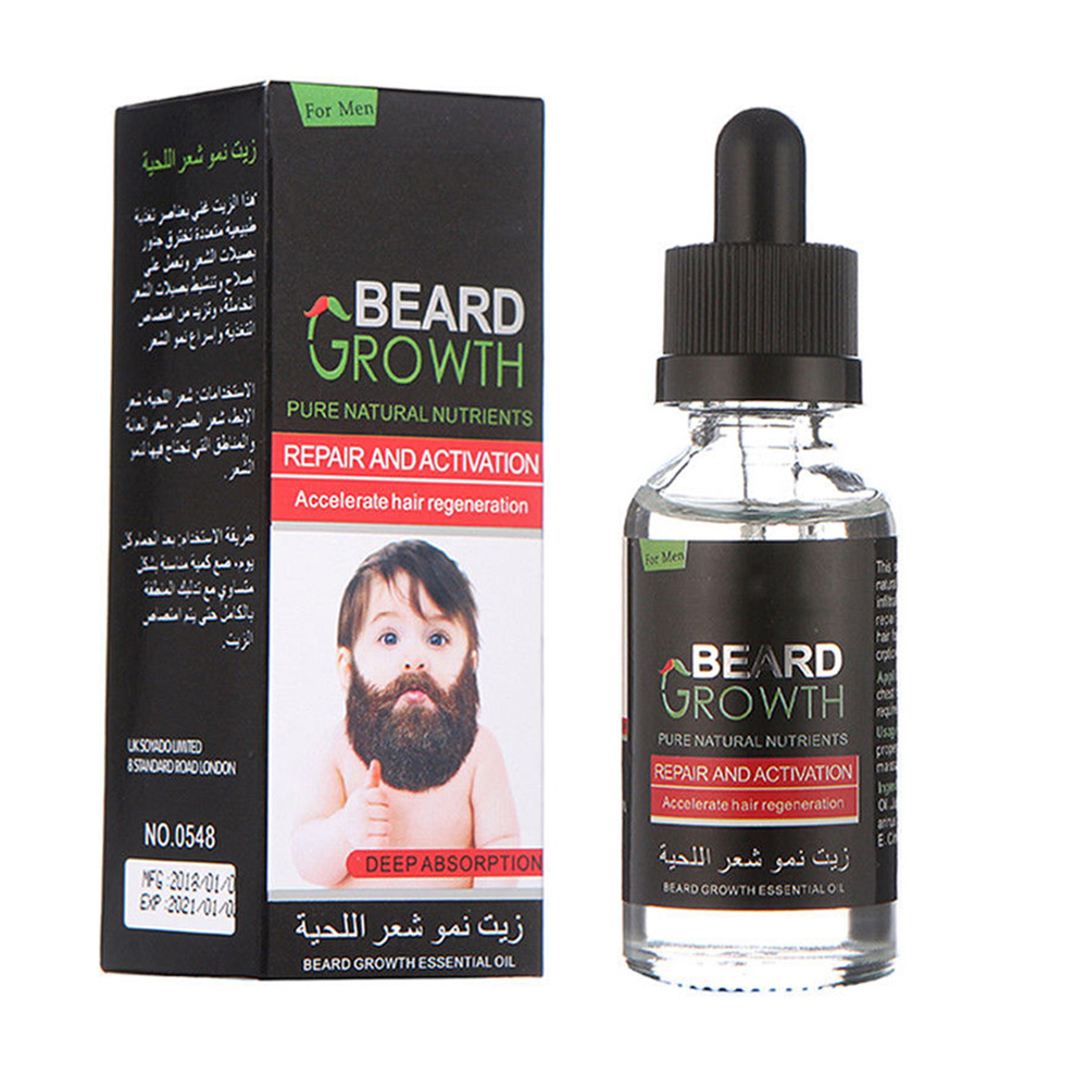 30ml Hair Loss Product New Original Men Beard Growth Oil Mustache Grow Serum Stimulator 100% Natural Acceler Eyebrow Essence