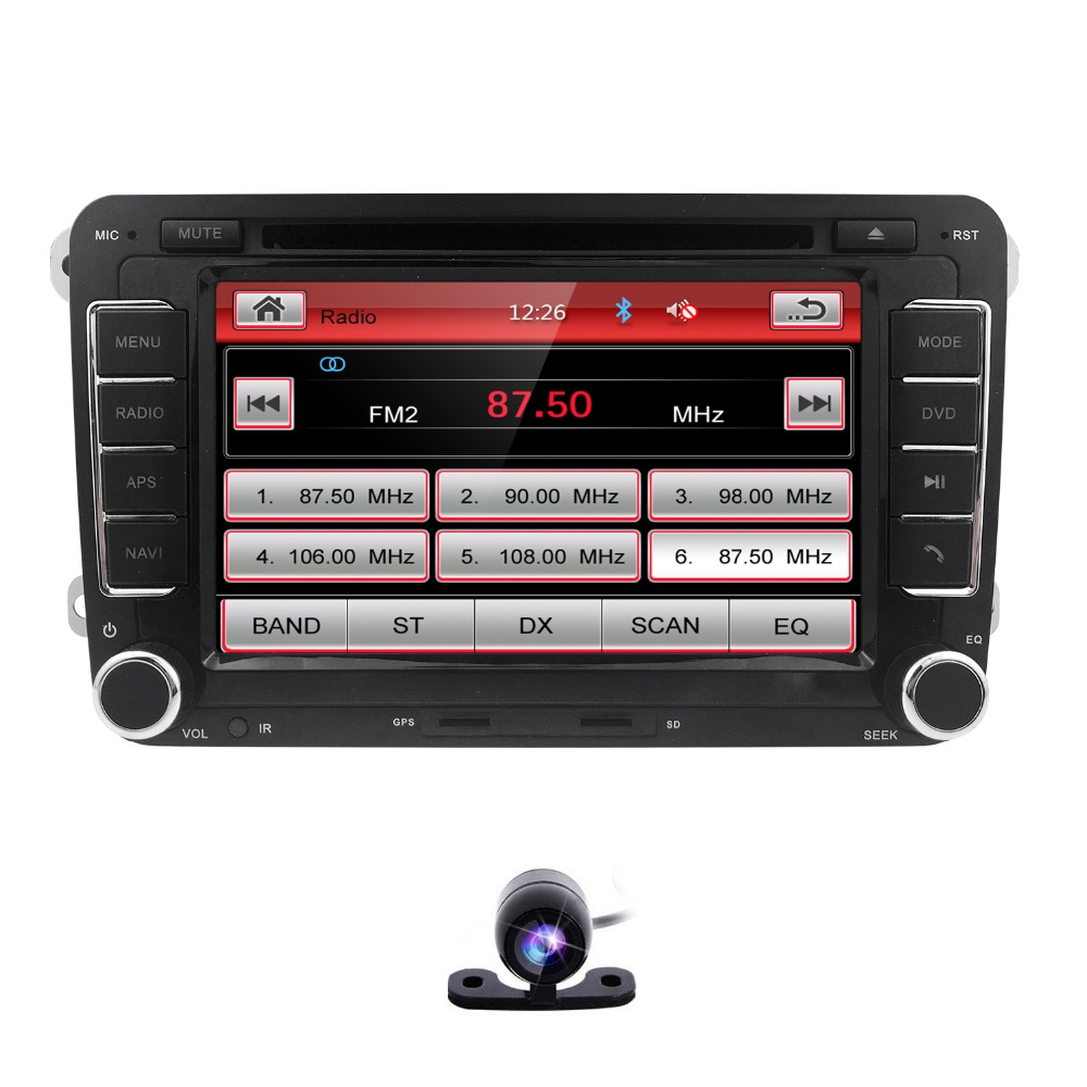 hizpo car head unit for volkswagen multimedia 2 din. Black Bedroom Furniture Sets. Home Design Ideas