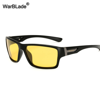 WarBLade Night Vision Sunglasses Men Brand Designer Fashion HD Polarized Night Driving Enhanced Light At Rainy Cloudy Fog Day