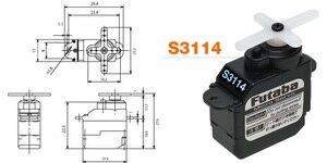 Image 3 - Небольшой рулевой механизм FUTABA S3114 Servo