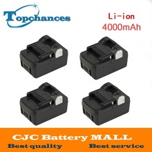 4PCS High Quality New 18V 4000mAh Power Tool Battery For Hitachi BSL1830  BSL1840 330067 Power Tool 4000mAh