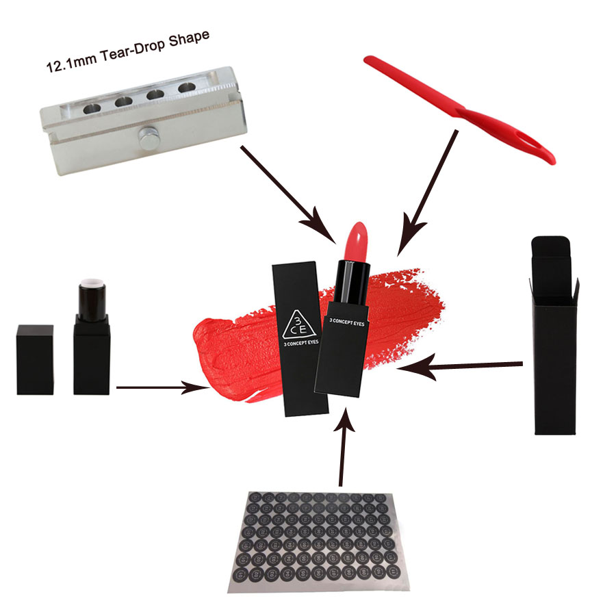 DIY lipstick set, lipstick lipbalm tube case container aluminum alloy fill mold paper gift box packing label sticker spatula 3206 amplifier aluminum rounded chassis preamplifier dac amp case decoder tube amp enclosure box 320 76 250mm
