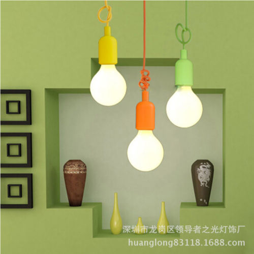 Faroot silicone home ceiling lamp pendant holder light bulb hanging faroot silicone home ceiling lamp pendant holder light bulb hanging fixture 8 colors home party festival decoration in party diy decorations from home aloadofball Gallery