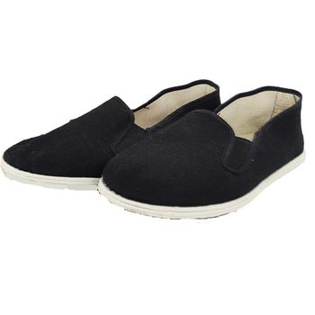 Cotton Sole Mens Kung Fu Closed Toe Slip On Shoes Black Cotton Shoes Bruce Lee Vintage Chinese Kung Fu Shoes Wing Chun Tai Chi 1