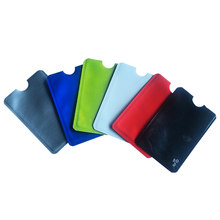 6PCS/LOT Blocking Wallet Anti RFID Scan Aluminum Case Security Pouch Holder Sleeves for Credit Card Passport(China)