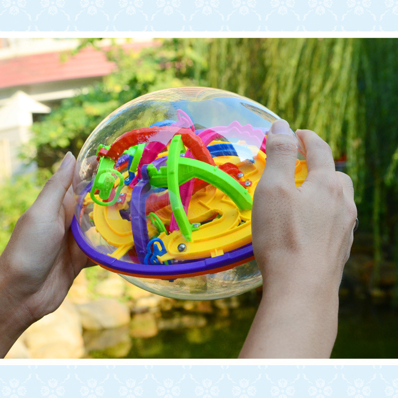 3D Ball Maze Cube Puzzle Labyrinth Magical Intellect Maze Ball Perplexus Ball Children Educational Games Toys 209 Steps