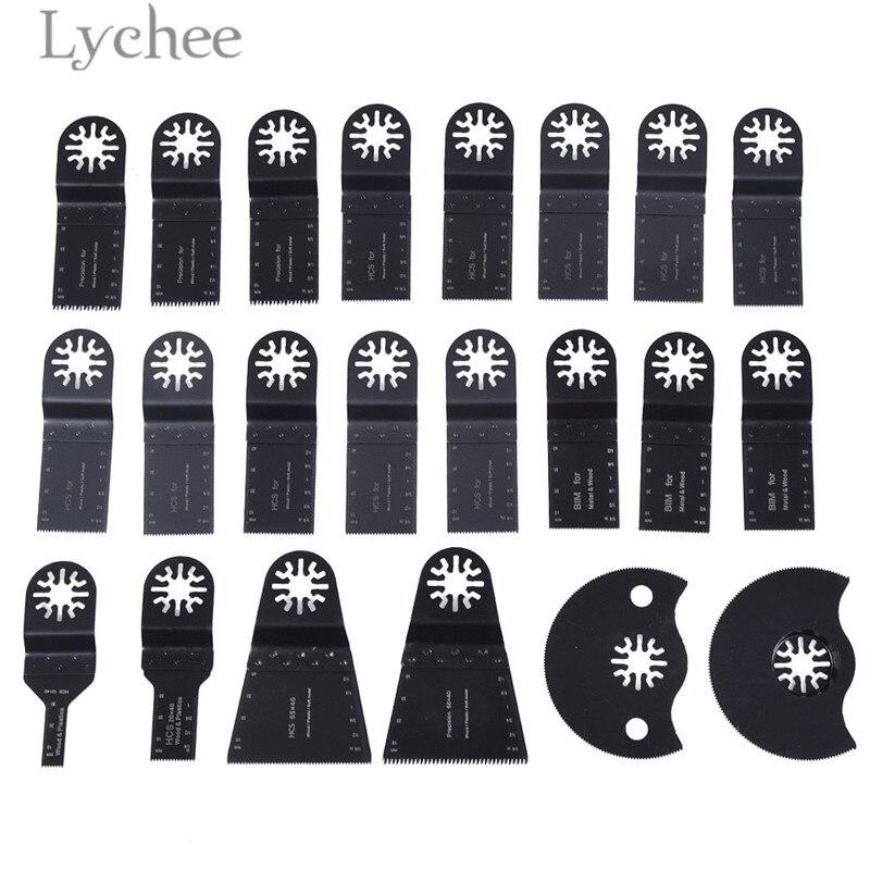 Lychee 22 pcs lames de scie accessoires Kit outils abrasifs pièces outils électriques accessoires