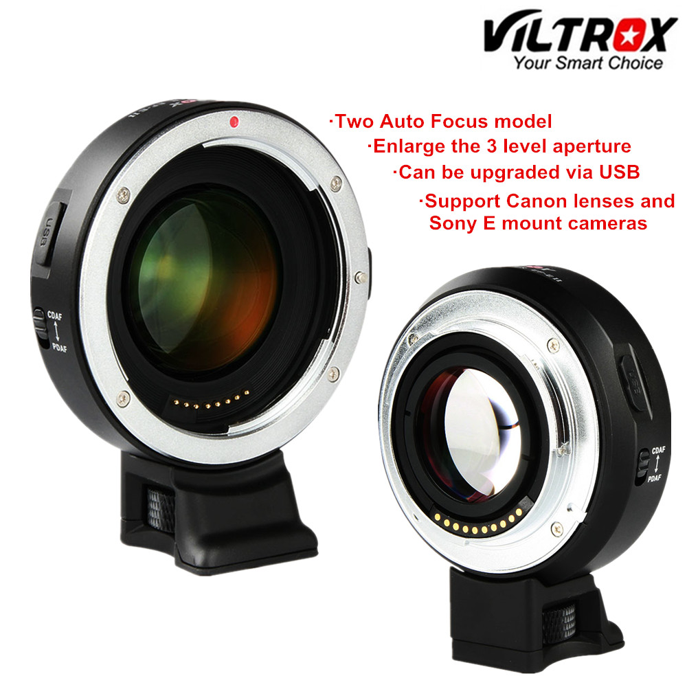Viltrox EF-E II Auto Focus Reducer Speed Booster Lens Adapter for Canon EF EOS Lens to Sony Camera A9 A7 II A7RIII A7SII A6500