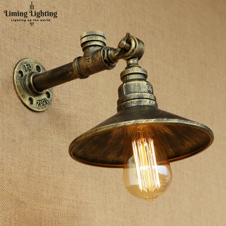 Retro Loft Style Antique Water Pipe Lamp Industrial Edison Wall Sconce Iron Vintage Wall Sconce Wall Lights Fixtures Lighting все цены