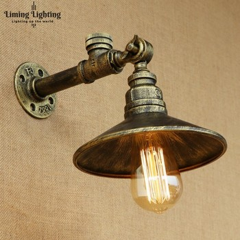 Retro Loft Style Antique Water Pipe Lamp Industrial Edison Wall Sconce Iron Vintage Wall Sconce Wall Lights Fixtures Lighting