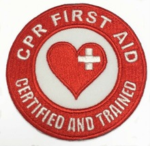 Custom Embroidered Patch First Aid Certified Trained Iron On Badge Applique  Welcome to custom your own patch