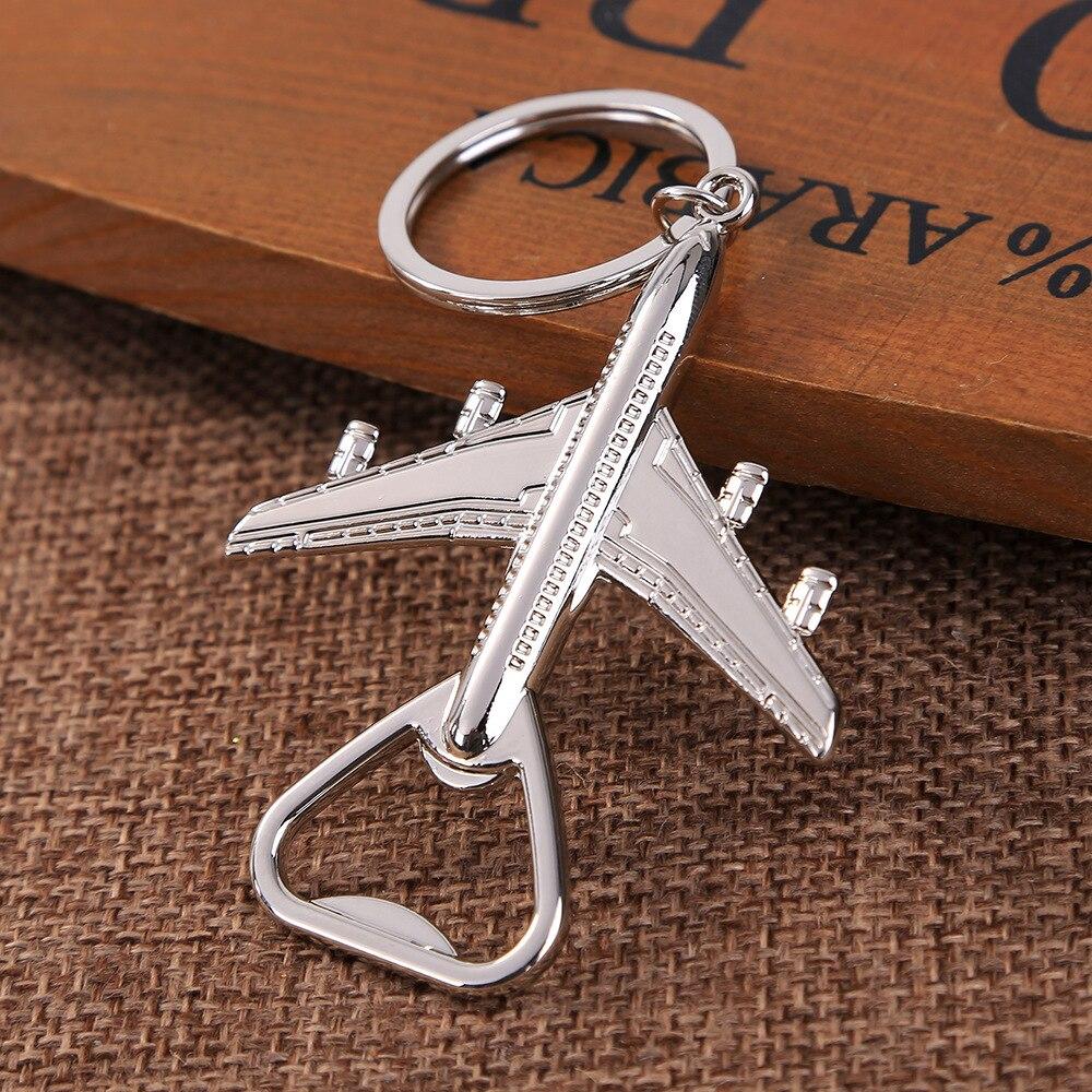 Creative Wedding Supplies Aircraft Keychain Beer Opener Retro Keychain Kichen Accessories Tools Keychain Bottle Opener