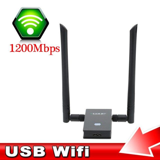 Новый Дизайн Удобный Wi-Fi Портативный Адаптер 1200 Мбит Сетевой Карты Dual Band Беспроводной Usb-адаптер С 2 Антенны