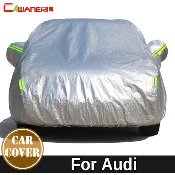 Cawanerl Thicken Cotton Car Cover Waterproof Sun Snow Hail Rain Protection Cover For Audi Allroad Q3 Q5 Q7 RS3 RS4 RS5 RS7 S3