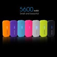 Banco de la energía 18650 5600 mAh USB Móvil de Reserva Externa y protable cargador de Batería Powerbank para el iphone Del Teléfono móvil Cargador Universal