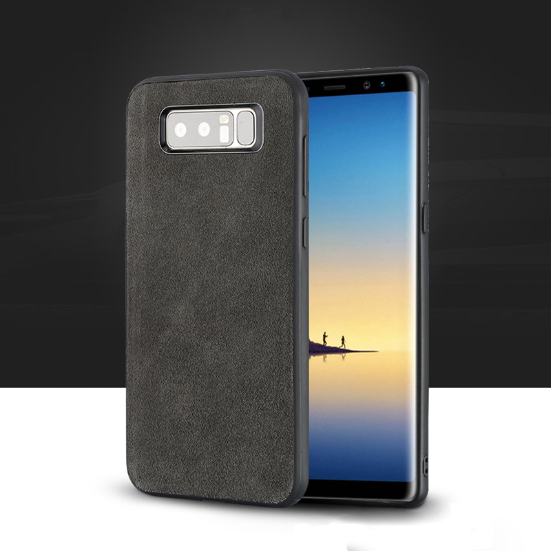 Wangcangli Genuine Leather Phone Case For Samsung Galaxy Note 8 Case Suede Leather Back Cover For S7 S8 S9 Plus J5 A5 Shell