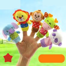 5PCS Cute Cartoon Biological Monkey Animal Finger Puppet Plush Toys Child Baby Favor Dolls Boys Girls Finger Puppets Plush Toy(China)
