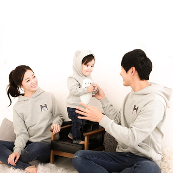 Autumn Children Girls Boys Cartoon Hoodies Sweatshirts Family Look Matching Mother Father Baby Clothes Mother Son Outfits CA550 Family Matching Outfits