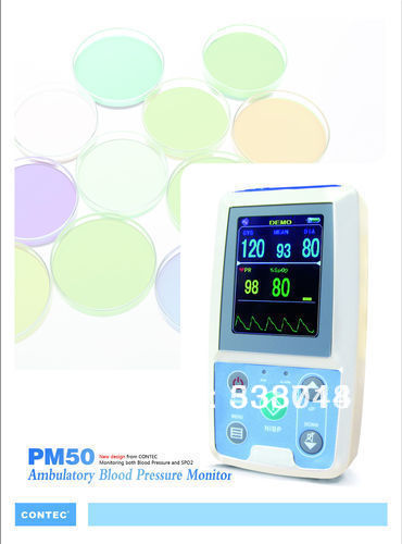 24 hours Ambulatory Blood Pressure Monitor, Pulse Rate Monitor, SPO2 & NIBP Patient Monitor, PM50, CE FDA approved abpm50 ce fda approved 24 hours patient monitor ambulatory automatic blood pressure nibp holter with usb cable