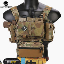 Emerson Chassis MK3 Mini Tactical Chest Rig Spiritus Airsoft Hunting Vest Ranger Green Military Tactical Vest w/ Magazine Pouch(China)