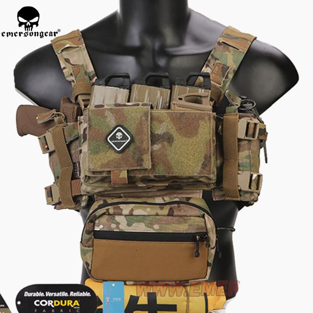 Emerson Telaio MK3 Mini Tactical Chest Rig Spiritus di Caccia di Airsoft Della Maglia Ranger Verde Militare Gilet Tattico w/ Magazine Pouch