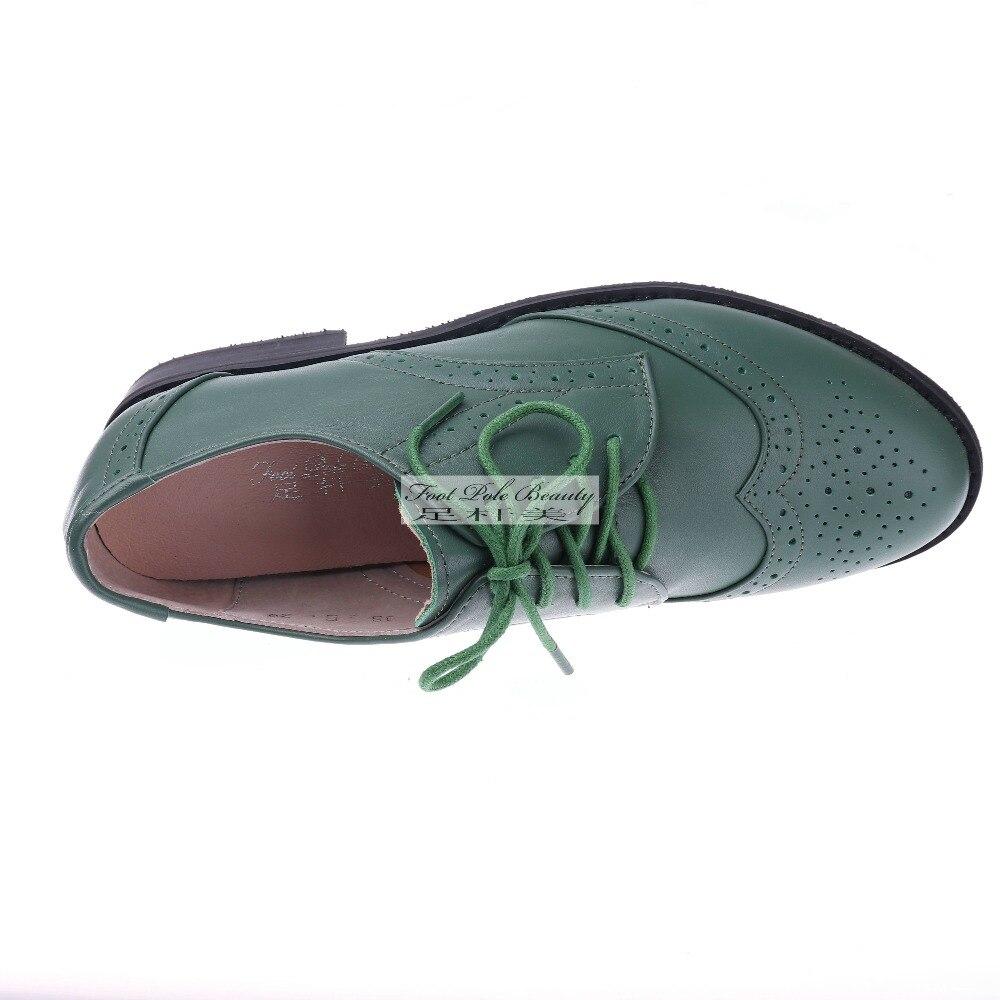 Scarpe da donna di marca Scarpe basse di cuoio genuino donna Scarpe vintage  oxford fatte a mano stile britannico per scarpe casual da donna Derby ... 0282ea87880