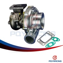 PQY STORE- GT35 Turbo charger A/R:.70 cold,.63 hot,t3 flange Turbocharger  Horsepower rating: 300-500hp PQY-TURBO44