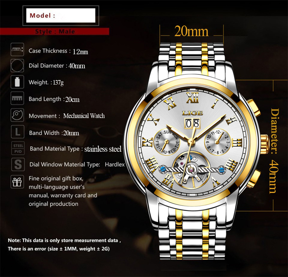 HTB1lHtlqbGYBuNjy0Foq6AiBFXaO LIGE Mens Watches Top Luxury Brand Automatic Mechanical Watch Men Full Steel Business Waterproof Sport Watches Relogio Masculino