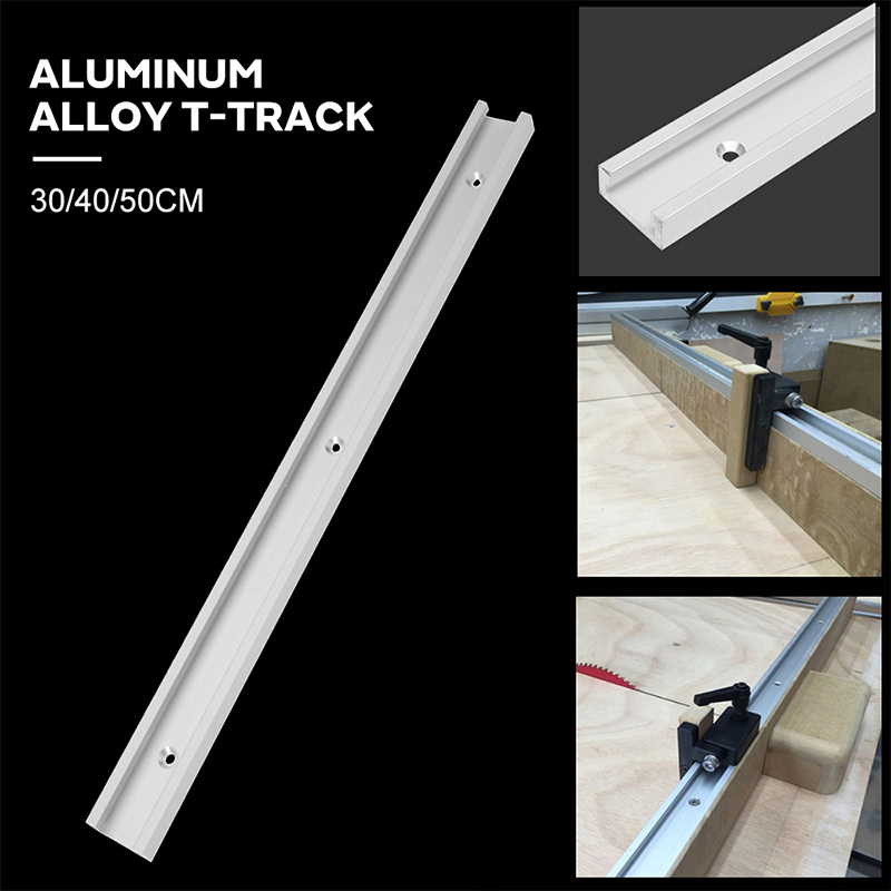 Linear Pulley Guide Rail 30/40/50CM Miter Tool Bar Aluminum Alloy Hardware Accessories T Tracks Durable Chute For Modification