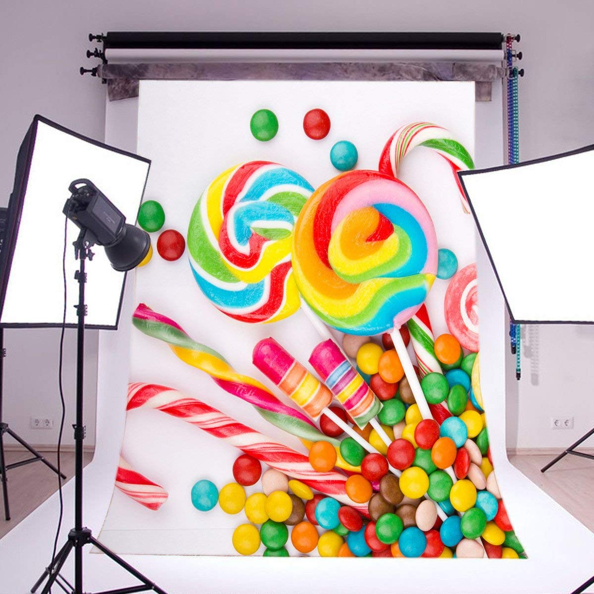 Photography Backdrops Happy Birthday Candy Land Theme Lollipops in Photo Studio Accessories from Consumer Electronics
