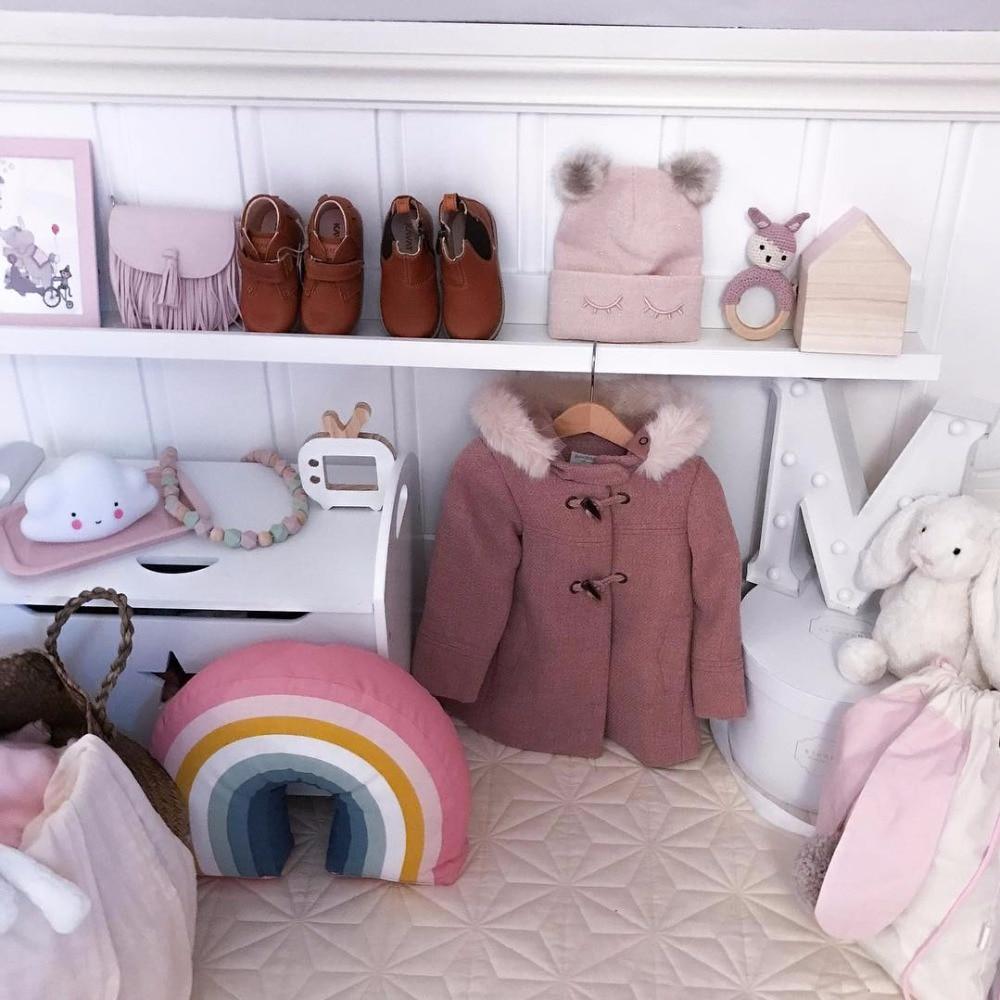 INS полосатая Милая Подушка, супер мягкая Радужная подушка, детские игрушки, украшение для дома, материал для детской фотографии